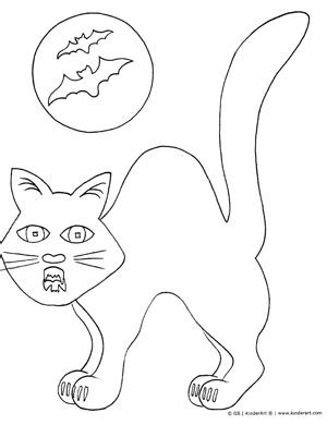 spooky cats coloring pages halloween cat free halloween coloring pages to print and