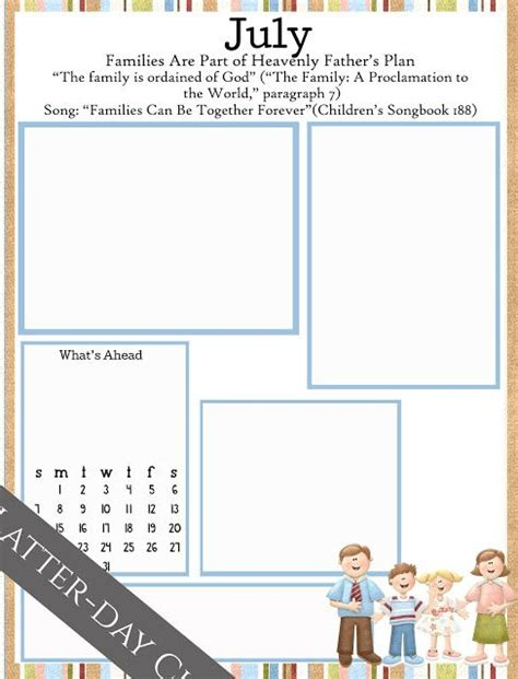 Latter Day Chatter Primary Monthly Newsletters This Blog Is So Amazing Church Pinterest Ffa Newsletter Templates