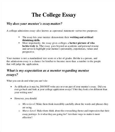 College Essay 9 Free Sles Exles Format Download Free Premium Templates College Essay Template