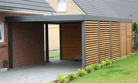 enclosed carport for the home