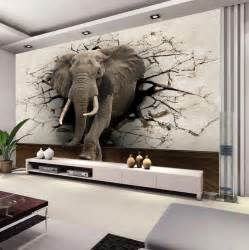 Inexpensive Wall Murals custom 3d elephant wall mural personalized silk photo