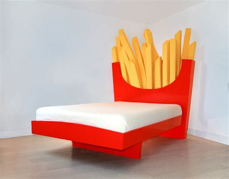 weird couches sofas salty peaks sleepersize me the french fry bed technabob