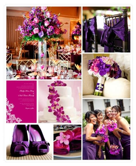themes purple love purple and pink wedding theme i love the bridesmaids and