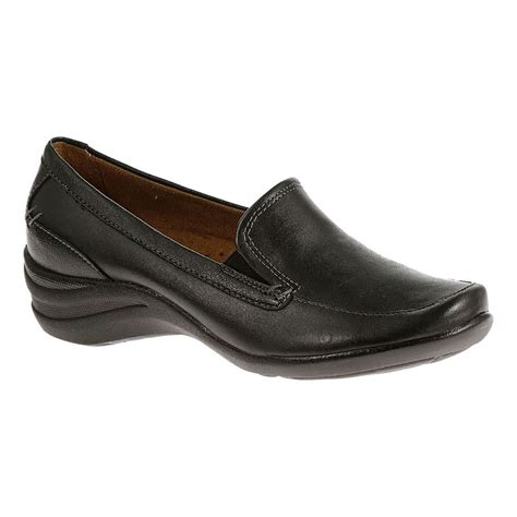 are hush puppies shoes comfortable hush puppies epic loafer womens black leather slip on