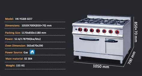 Oven And Cooktop Commercial Gas Kitchen Stoves For Restaurant Bar