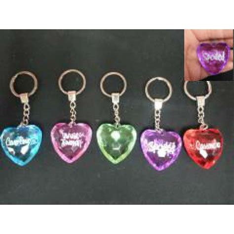 Xsy Keychain Assorted Newvi 3 assorted color saying name key chain 1