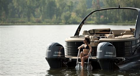 q motor boat q30 10 wide twin engine custom pontoon boats
