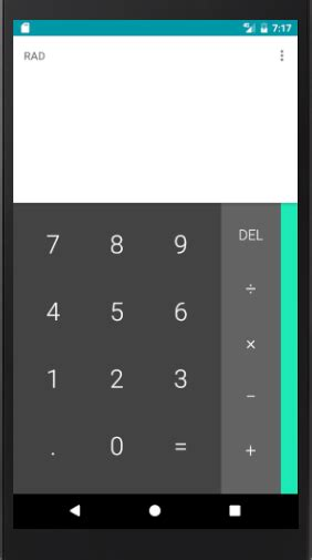android tablerow layout weight programmatically setting up layout of calculator buttons on android stack
