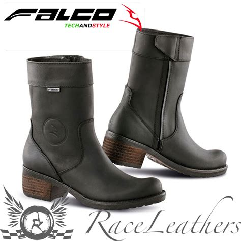 heeled motorcycle boots falco ayda black womens heeled waterproof touring