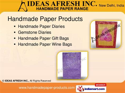 Handmade Paper Products - ideas afresh inc new delhi india