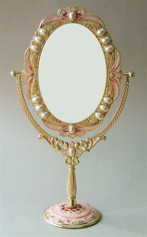 Vintage Vanity With Mirror by Vintage Pearl Mirror Vintage Wedding Jewelry Pearls