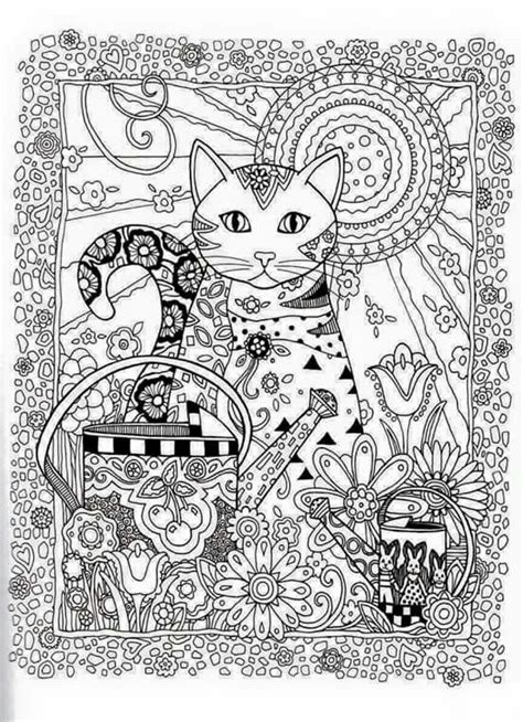 intricate cat coloring pages 604 best intricate coloring images on pinterest