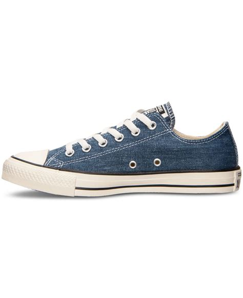 Converse Blue Ox converse s chuck ox denim casual sneakers from