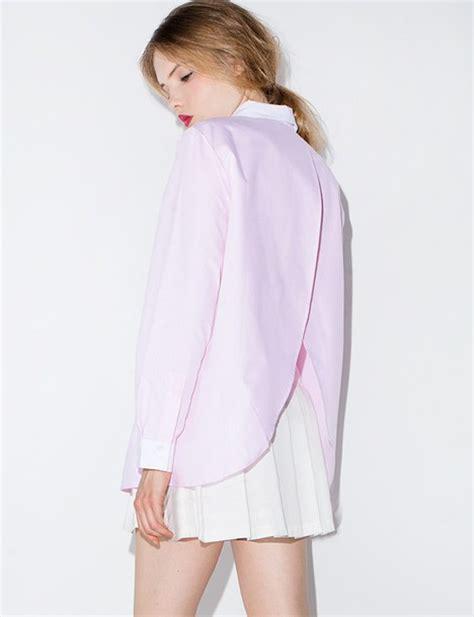 Blouse Pink Korea blouse pink pink blouse pink shirt boyfriend