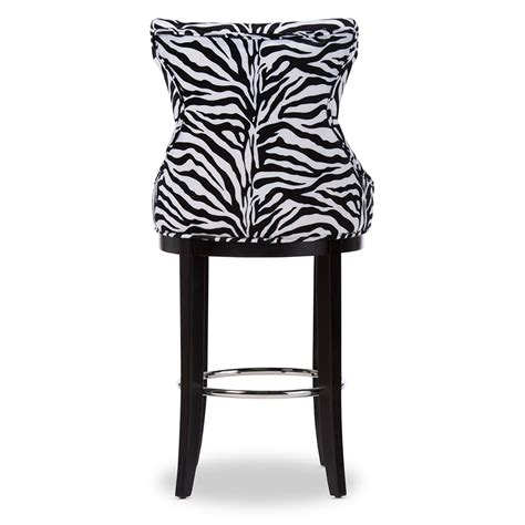patterned counter height stools baxton studio peace modern and contemporary zebra print