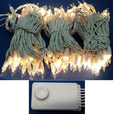 christmas tree lights white cord