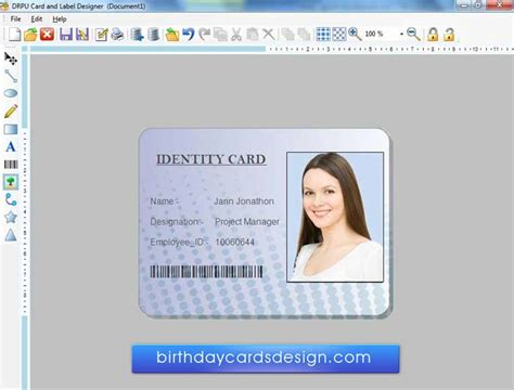 free printable id card maker id card design template free download