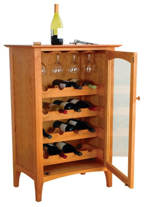 Furniture Wine Bar Cabinet Cambridge Wine Cabinet Cherry Contemporary Wine And Bar Cabinets By Cherry Pond