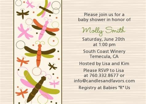 dragonfly wedding invitation template dragonfly baby shower invitations candles and favors