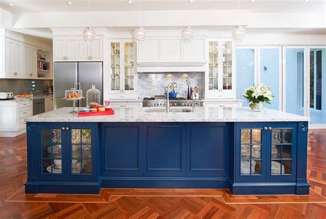 blue kitchen islands 25 colorful kitchen island ideas to enliven your home