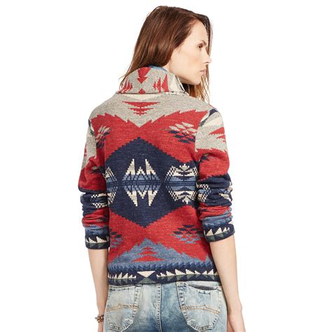 Denim Sweater lyst denim supply ralph shawl cardigan sweater