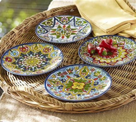 mexican dinnerware talavera melamine dinnerware sets of 4 pottery barn
