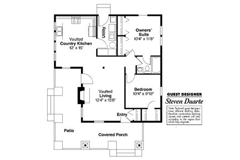 1 floor house plans craftsman house plans pinewald 41 014 associated designs