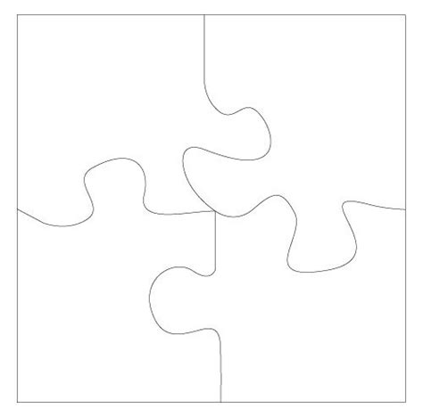 4 puzzle template 4 puzzle template puzzle colorful comic