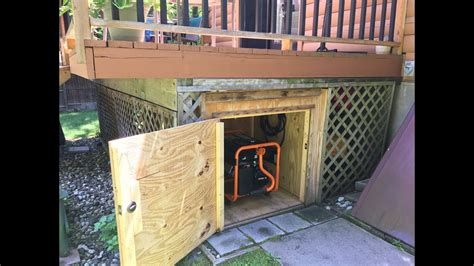 generator shed diy generator storage box