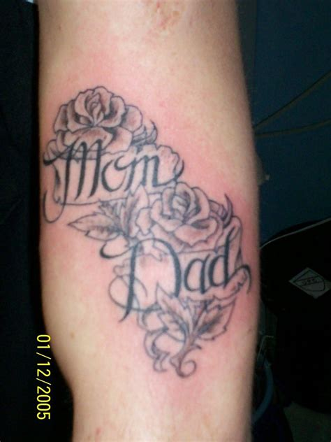 mom and dad roses tattoo by inkaholick on deviantart