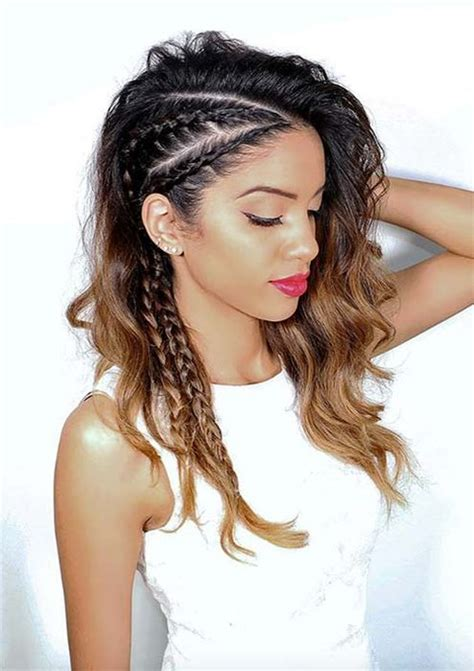 black plats on hair hairstyles 10 peinados con trenzas para chicas de cabello largo