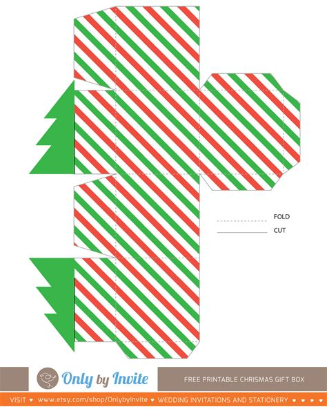 printable templates for christmas gift boxes free printables for happy occasions christmas gift box