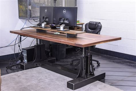 Kitchen Islands With Seating For 4 post industrial desk vintage industrial furniture