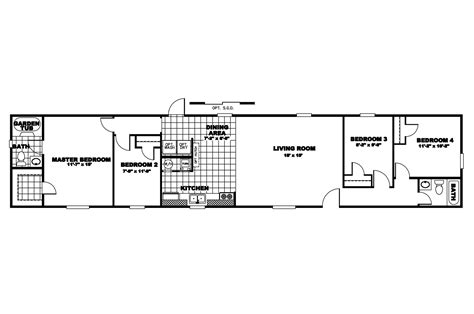 14x60 Mobile Home Floor Plans | 16x40 mobile home floor plans