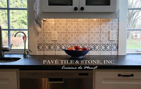 french blue and white ceramic tile backsplash cuisine de monet blue and white decorative wall tile