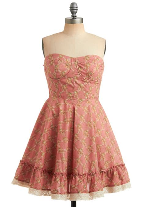 home sweet oklahoma dress in coral mod retro vintage
