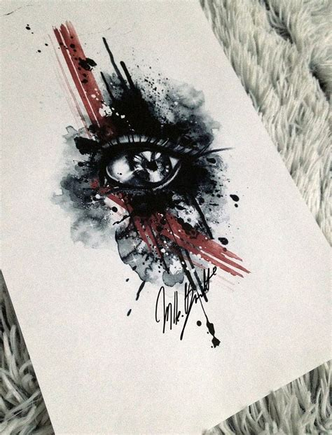 watercolor tattoo eye design tattoo designs of early