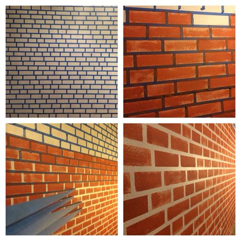 pattern brush wall make your fake brick wall just by using blue tape and
