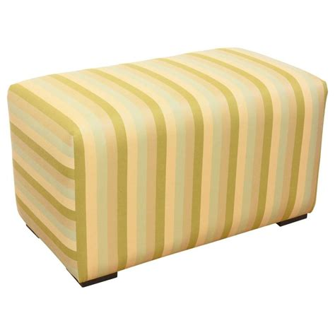 striped storage ottoman striped ottoman for sale at 1stdibs
