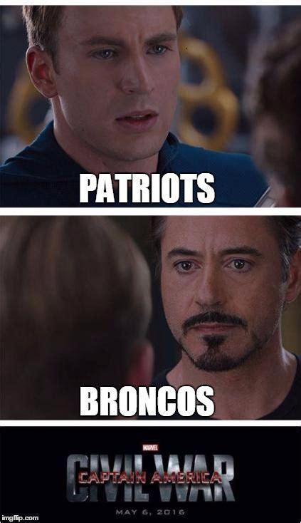 Patriots Broncos Meme - marvel civil war 1 meme imgflip