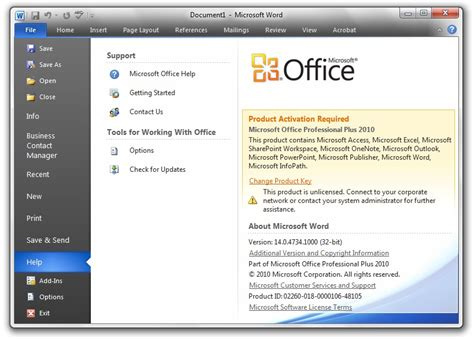Office 365 Outlook Product Zonder Licentie Microsoft Office Change 2010 2010 Enter Ms