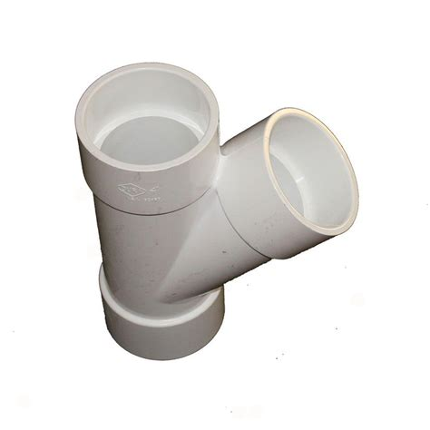 pipe 12 in x 12 in x 4 in pvc dwv combination