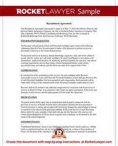 Recruitment Contract Template by Recruiter Agreement Recruitment Contract Agreement