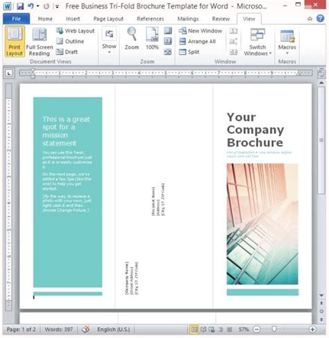 3 fold brochure template free word templates resume