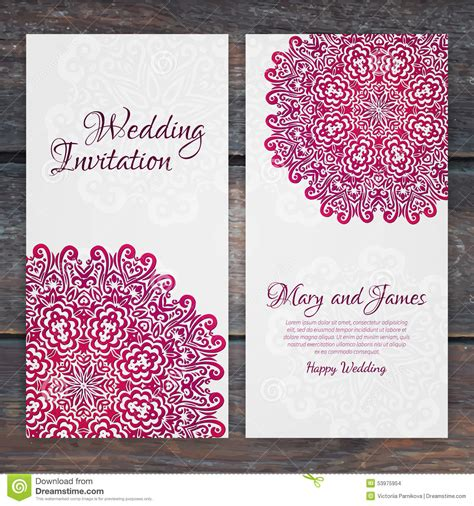 classic wedding card template lacy vector wedding card template vintage