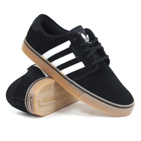 skater shoes adidas seeley suede black white gum mens skate shoes ebay
