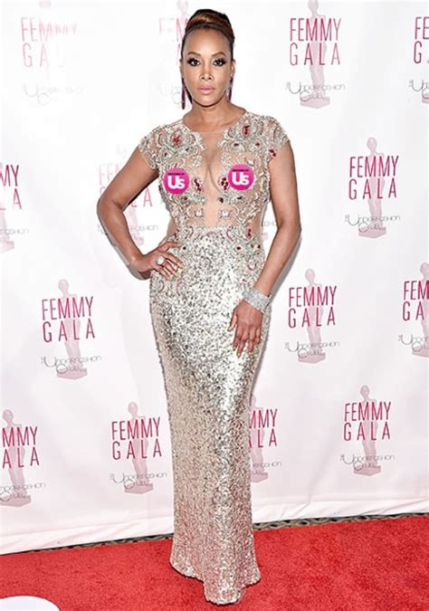 Worst Dress Of The Year Vivica Fox In Naeem Khan by Vivica A Fox Shows Through Sheer Evening Gown