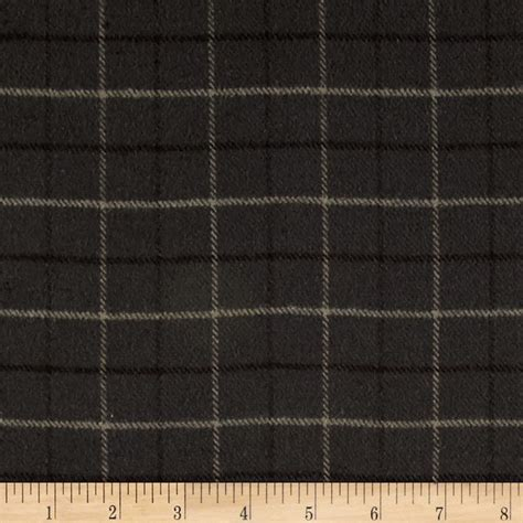 grey flannel upholstery fabric primo flannel smoky window pane plaid grey discount