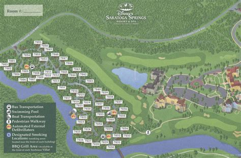 Saratoga Springs Treehouse Villa Floor Plan by Saratoga Springs Resort And Spa Map