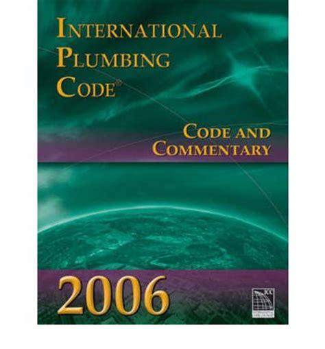 International Plumbing Code Book by International Plumbing Code International Code Council